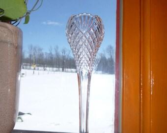 Pressed Glass Bud Vase
