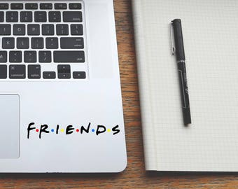 MANY SIZES friends decal, friends tv show sticker, trackpad decals, macbook laptop stickers, cornhole decals, ipad stickers