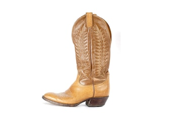 Vintage Tony Lama Boots - Cowboy Boots - Western Boots - 80s Tony Lama Boots - Brown Cowboy Boots - Tony Lama - Brown Leather Boots M 6 W8