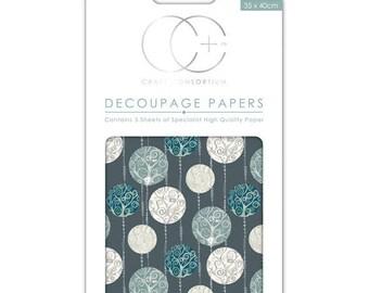 Paper patch (3 sheets) silver balls - CCXDECP044