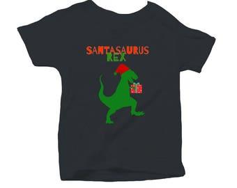 Christmas T-Rex Santasaurus Rex Onesie BodySuit for Infants