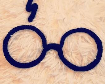 Harry Potter glasses in knitting!