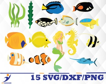 Underwater world svg,dxf,png/ Underwater world for Silhouette,Cricut, Print,Design, Art