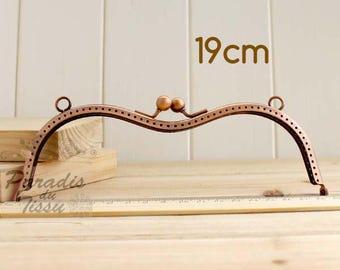 1 x 19cm con dos anillos de cierre de la bolsa de cobre del Metal