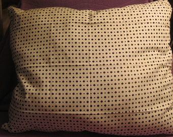 BLACK and WHITE DOTTED Pillow