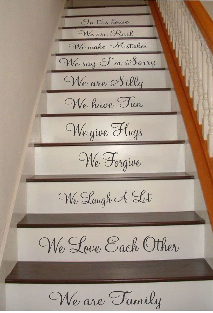 Family Stair Riser Decals Stair Decals We Are Family Decals