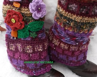 Second payment for Chris/Leg Warmers /Bohemian handcrocheted Leg Warmers/Winter Leg Warmers/Free shipping
