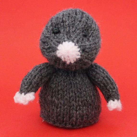 Mole Toy Knitting Pattern Pdf Toy Egg Cozy Finger Puppet