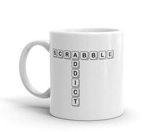 Scrabble Addict Mug