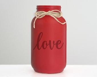 Love Mason Jar