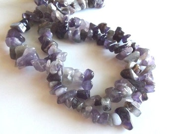 """Amethyst Chip Beads, Large Chips - 15"""" Strand"""