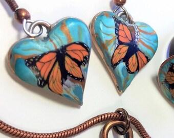 Teal Butterfly Earrings