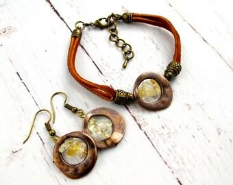November Birthstone Jewelry-Raw Citrine-November Birthday-Raw Stone Jewelry-Raw Birthstone Bracelets-Citrine Jewelry-Personalized Gifts Her