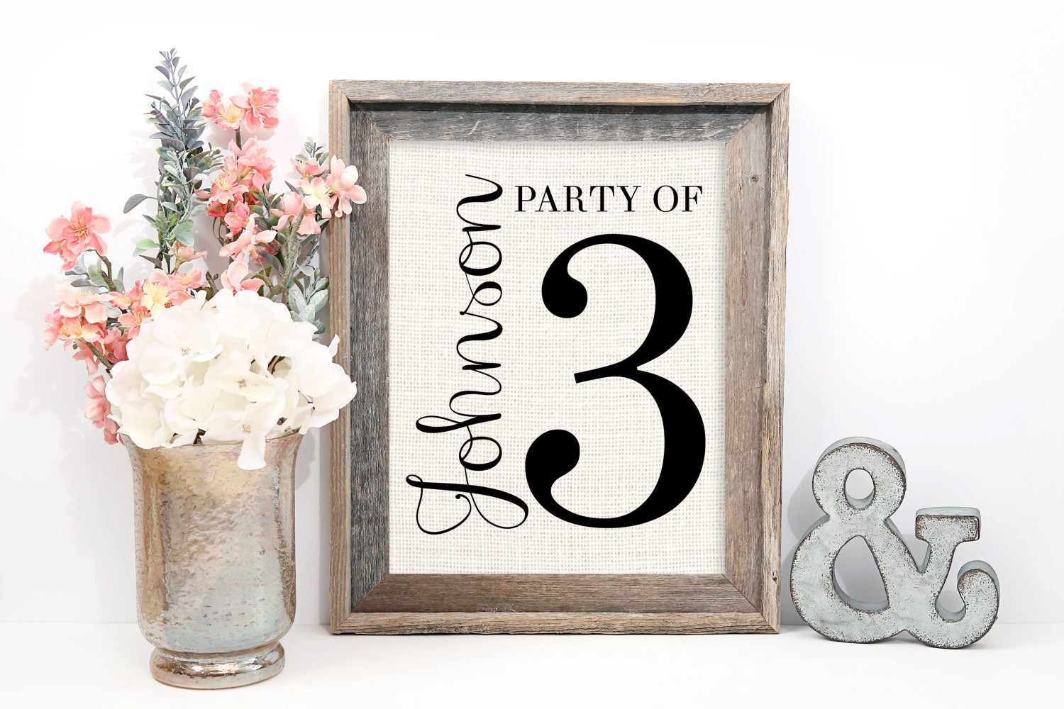 Party Of 4 Sign Gallery Wall Decor Pregnancy Reveal