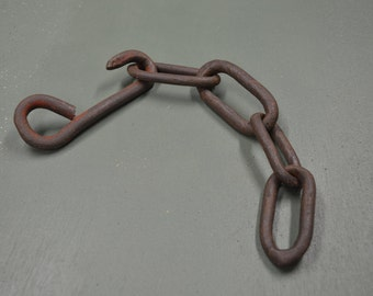 Vintage Chain, Rusted Chain Links, Steampunk Chain, #262