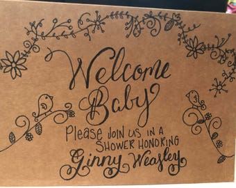 5 Welcome Baby! Baby Shower Cards