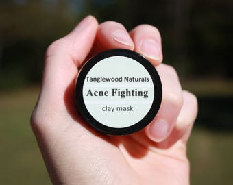 Acne Fighting Clay Mask. 1 oz.