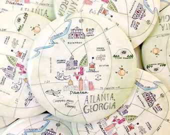 Atlanta map Etsy