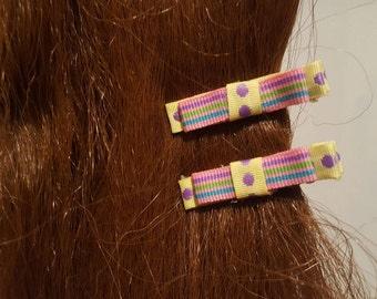Easter Spots 'n' Stripes Hair Bows