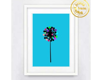 Printable art Digital Prints modern flower wall art printable art, printable prints