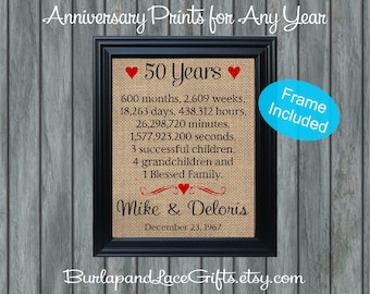 50 years of marriage etsy