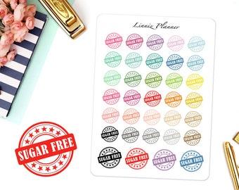 Sugar Free (matte planner sticker, clipart, Erin Condren, Happy Planner, Filofax, Kikki K)