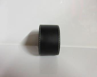 Black leather strap.