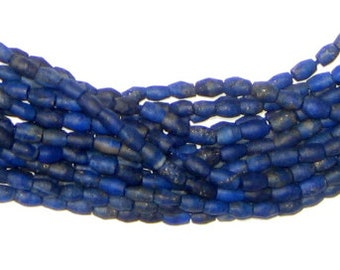 100 Tiny Lapis Lazuli Beads - Gemstone Bicone Beads - Lapis Bicone Beads - Jewelry Making Supplies - Made in Afghanistan * (LAP-BIC-BLU-106)
