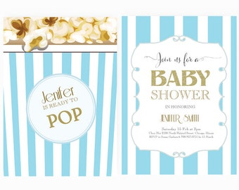Ready to pop invite Etsy