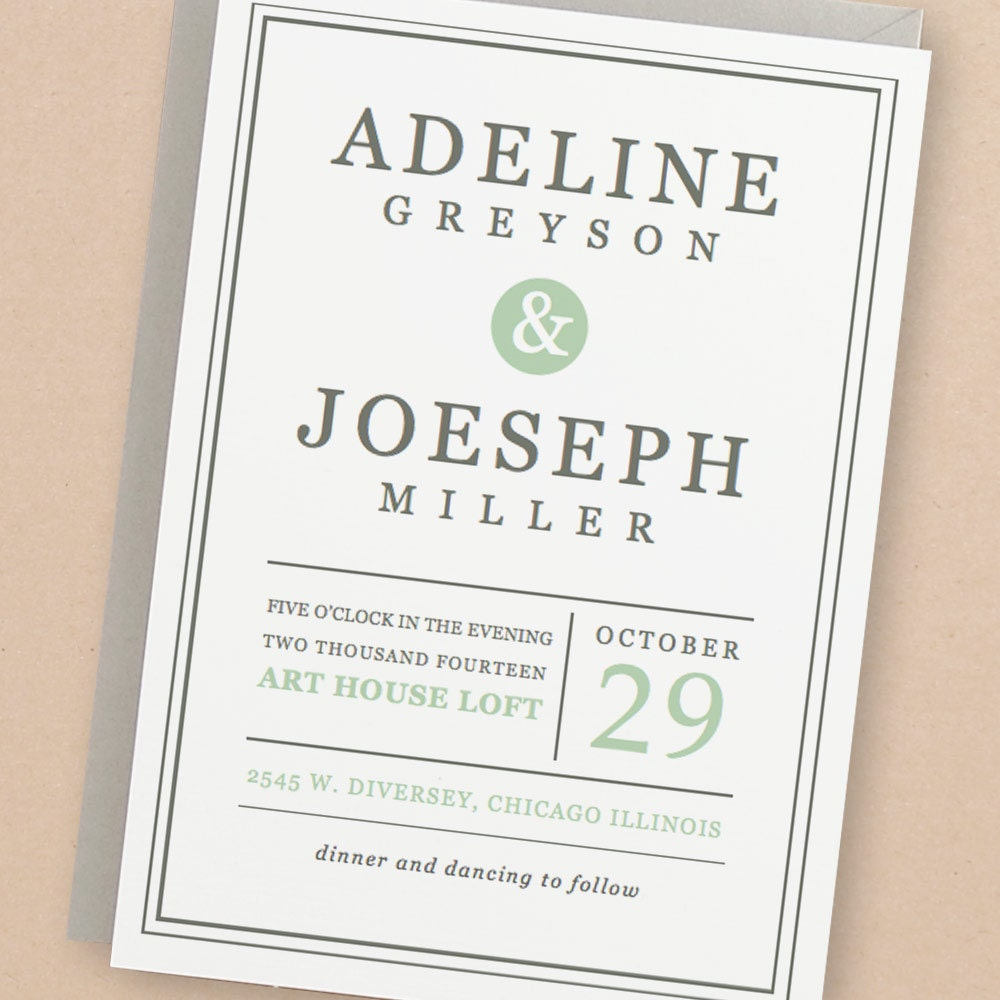 Print Wedding Invitations At Home: Printable Wedding Invitation Template INSTANT DOWNLOAD
