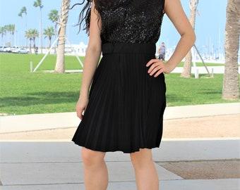 Sleeveless Party Dress Women | Parfait Originals, Small, Medium, Sleeveless Party Dress, Sleeveless Black Party Dress Women, Sequin Top