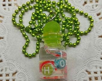 Necklace message jar