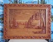 Cabin Wall Decor - Log Ca...