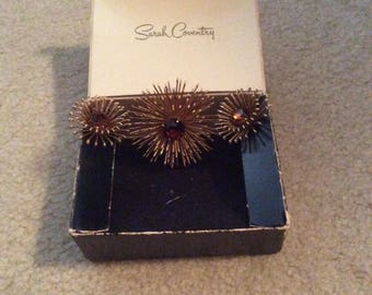Sarah Coventry-Clip-on Earrings & Brooch