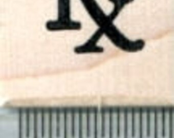 Tiny Prescription Symbol Rubber Stamp, Calendar Series A31216 Wood Mounted