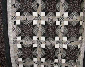 Black and White Squares Quilt