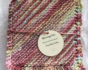 Pink Knit Dishcloth