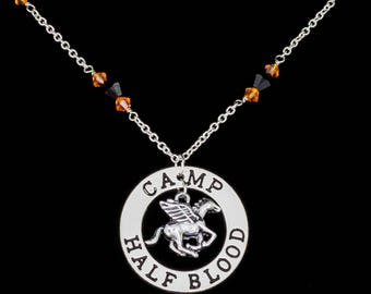 Camp Half Blood Necklace inspired by  Rick Riordan's Percy Jackson Series