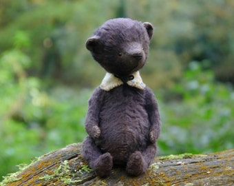 Made to order OOAK Artist teddy bear Theo/viscose /5.11 inches tall