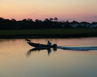 Salt Marsh at Sunset: Pawleys Island, South Carolina