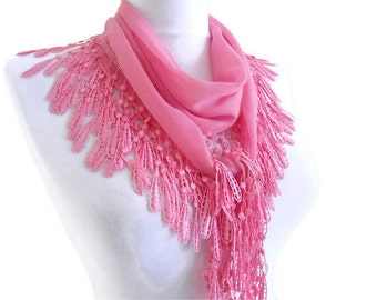 Traditional Turkish-style, pink, Necklace scarves,Headband, scarf, fashion, 2012, Special Fashion