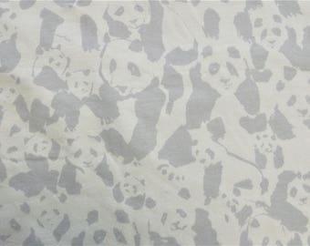 White Jersey grey pandas, Art Gallery 25 x 150 cm