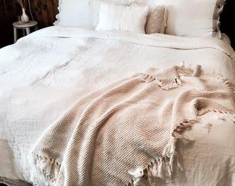 Knitting blanket | Crocheting blanket | Vintage throw | Afghan blanket