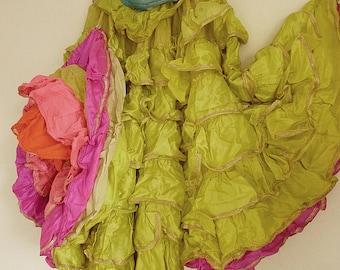 Rare.....skirt, crinoline, petticoat, theatre costume, samba, burlesque, show girl, cancan, Moulin Rouge, Varietè, Revue....CHARMANT!