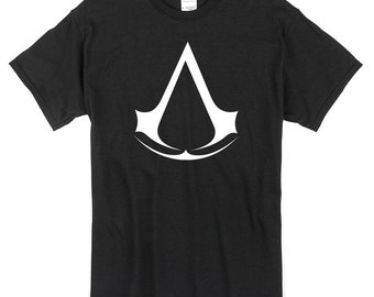 Assassins Creed logo T-Shirt black or white 100% cotton