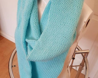Blue infinity scarf extra long scarf blue infinity blue infinity scarf