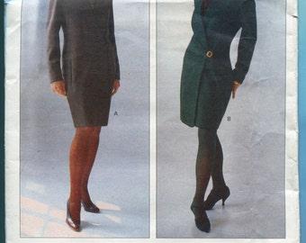 Anne Klein Vogue 2569 Wrap Dress Vintage 90s Sewing Pattern Misses Size 8  10  12 UNCUT