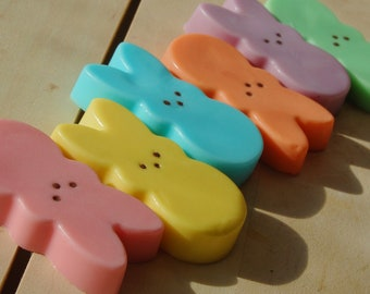 Marshmallow Peep Soap, Easter Basket, Easter Bunny Soap, Candy Soap, Kids Soap, Homemade Soap, Food Soap, Baby Shower Favors, Gift for Kids