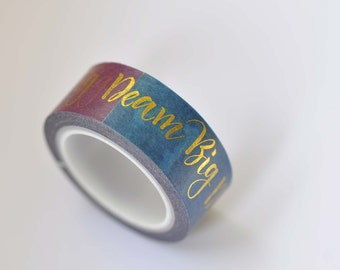 Inspirational Quote Dream Washi Tape /Masking Tape 15mm wide x 5m long No.12259