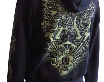 Merkaba Hoodie, black, for men